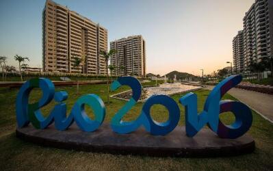 Panorama de la villa Olímpica en Barra da Tijuca, Río de Janeiro, el 22...