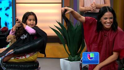 Karla y sus hijas se cortaron el cabello por una buena causa en vivo en...