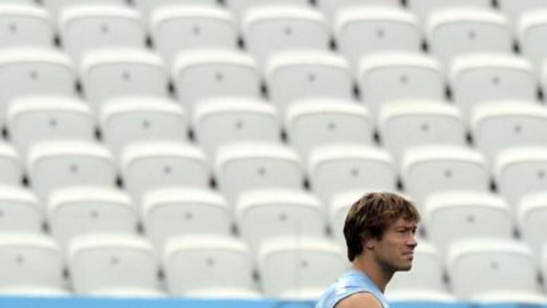 El capitán uruguayo se limitó a realizar ejercicios físicos de recuperac...