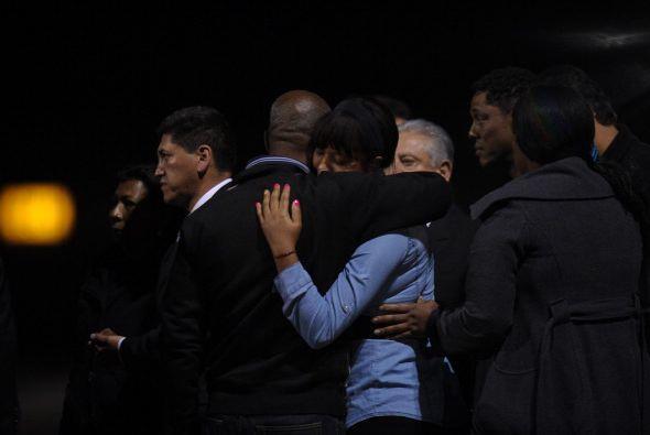 Allí fueron recibidos por familiares y miembros de la Federación Ecuator...