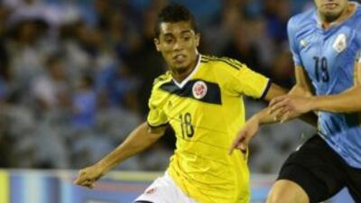 Mauro Manotas, con la selección Colombia Sub-20 en el Suramericano 2015.