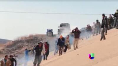 Enfrentamiento de película en la frontera entre México y EEUU