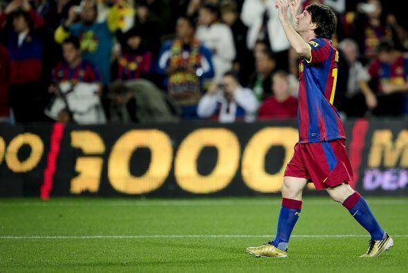 La 'Pulga' abrió el marcador para el Barcelona con un vistoso gol.