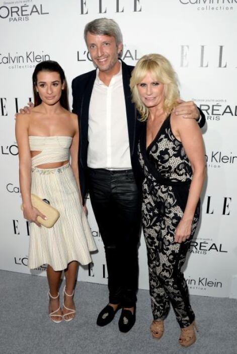 Steven Waldberg, fue el mejor acompañado de la noche con Lea Michele y L...