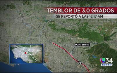 Se registra sismo de 3.0 grados en el norte del condado Orange