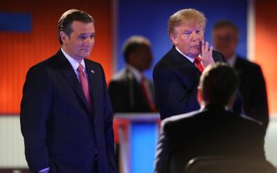 Ted Cruz y Donald Trump.