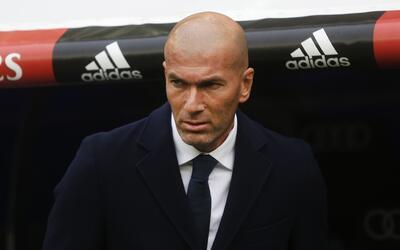 Zidane en su primer partido al frente del Real Madrid