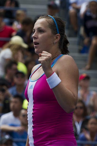 La rusa Anastasia Pavlyuchenkova[17] derrotó a Francesca Sc...