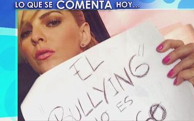 Los famosos se unieron a una campaña anti bullying