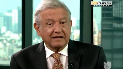 Andrés Manuel López Obrador durante su entrevista con Jorge Ramos en Al...