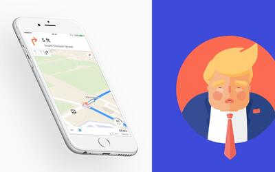 ¿La voz de Donald Trump guiándolo mientras conduce? Con este GPS es posible