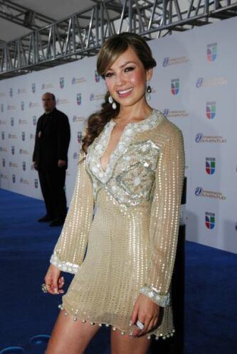 Thalía es una de las cantantes más guapas y tiene una melena envidiable.