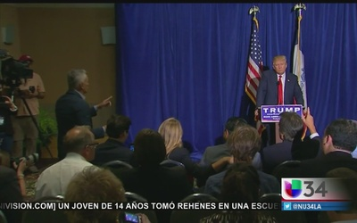 Tenso intercambio entre Trump y Ramos