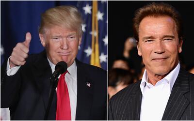 """Arnold Schwarzenegger sobre Donald Trump: """"Está enamorado de mí"""""""