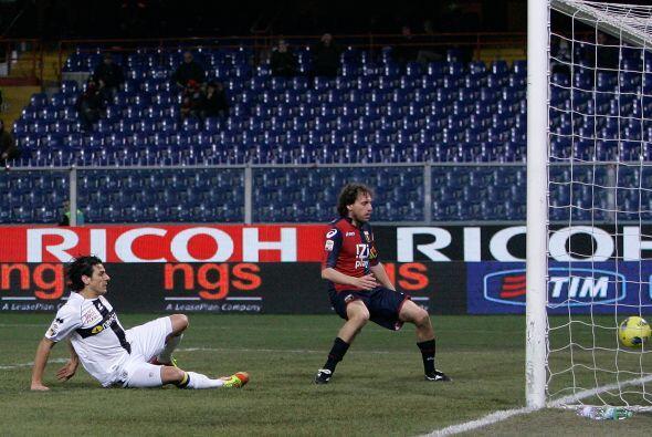 Primero fue Massimo Gobbi que puso el 1 a 0 a favor del Parma.