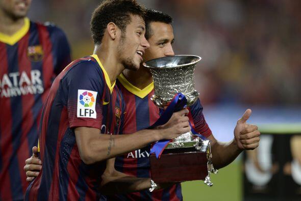 Mismo caso junto al chileno Alexis Sánchez. Y así acabó la Supercopa esp...