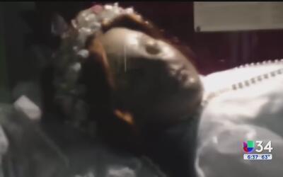 Turista graba a niña santa de Guadalajara presuntamente abriendo los ojos