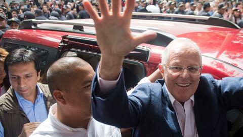 """El candidato presidencial de """"Peruanos por el Kambio"""" Pedro Pa..."""