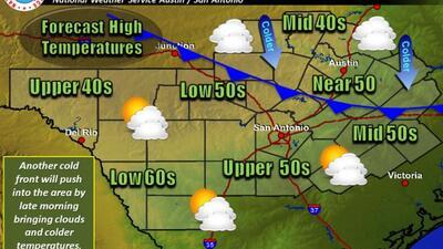 El Servicio Meteorológico Nacional informa que un nuevo frente frío afec...