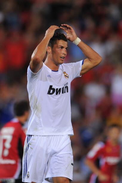 Cristiano Ronaldo tuvo en sus pies el gol en más de una ocasión, sin con...