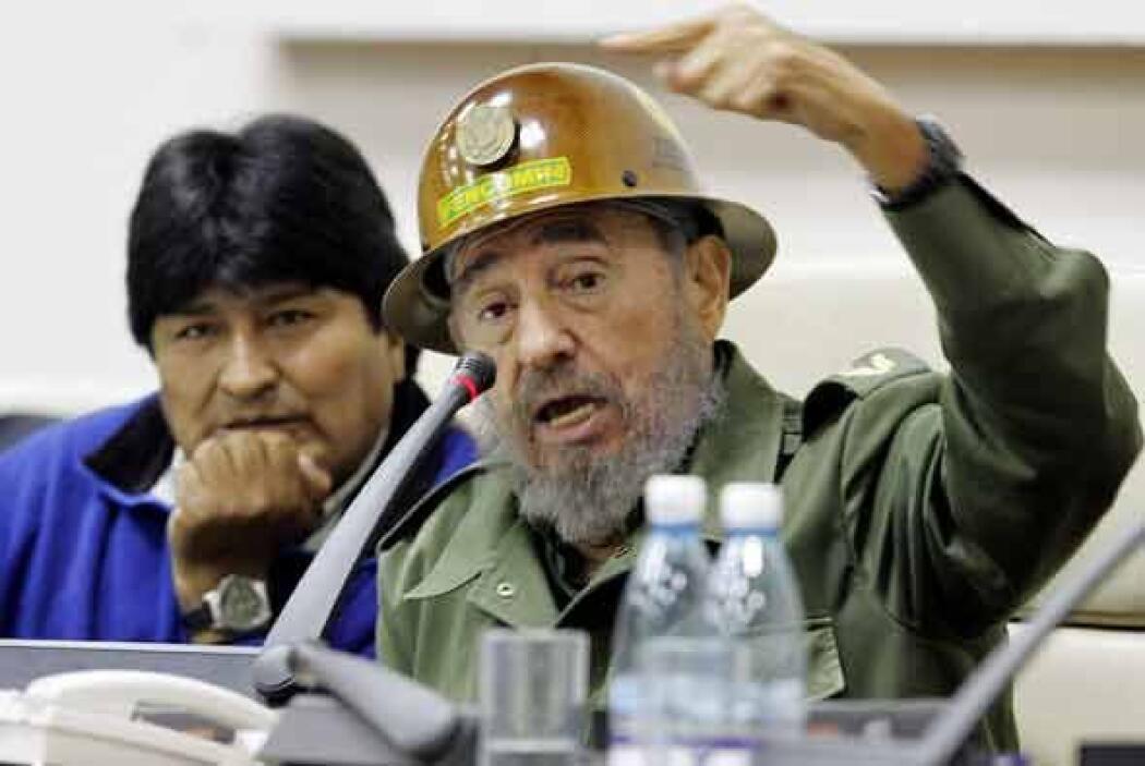 Aquí con Evo Morales, presidente de Bolivia.