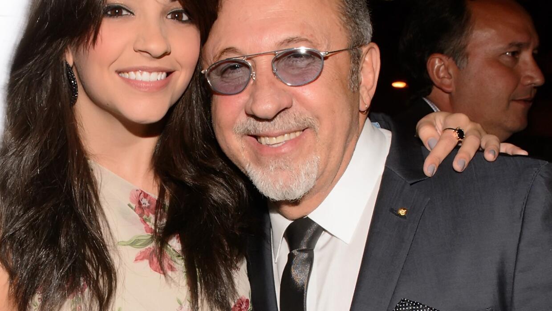 Emilio Estefan y la actriz Ana Villafañe