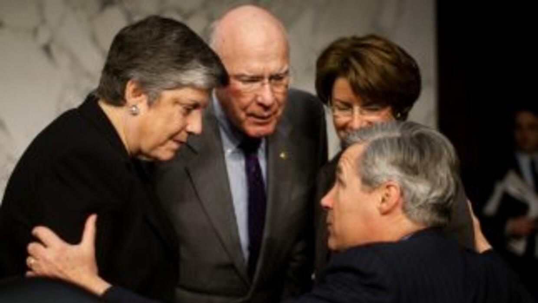 La Secretaria del Departamento de Seguridad de EEUU, Janet Napolitano, j...