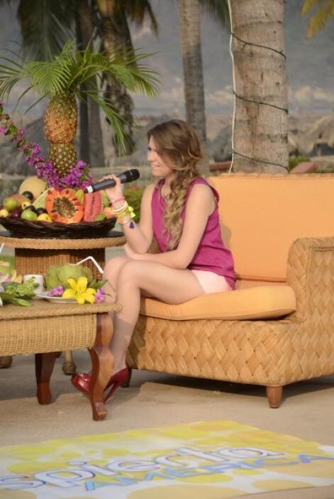 Sofía Castro nos acompañó a lo largo de todo el show.