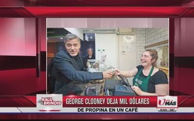 George Clooney dejó mil dólares de propina en un café