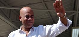 El todavía presidente haitiano Michel Martelly.