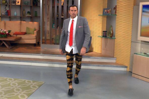 Además le encanta estar a la moda. ¿Qué les parece luciendo sus 'megging...
