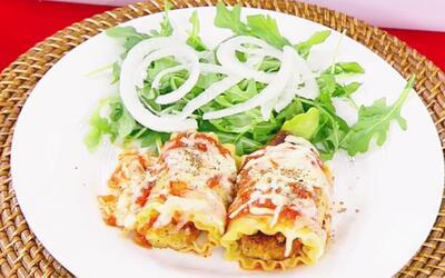 Sorprende a tus invitados con este delicioso plato de rollos de lasaña d...