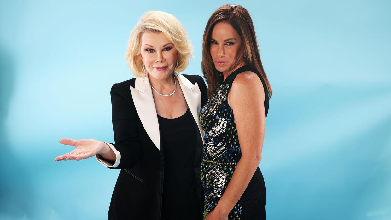 La fallecida Joan Rivers juntoa a su hija Melissa