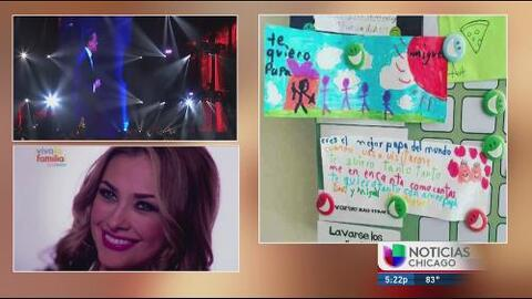 Aracely Arámbula comparte el regalo que le hicieron sus hijos a Luis Miguel