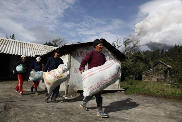 Algunos de los pueblos evacuados fueron Cusúa, Bilbao, Chacauco, Choglon...