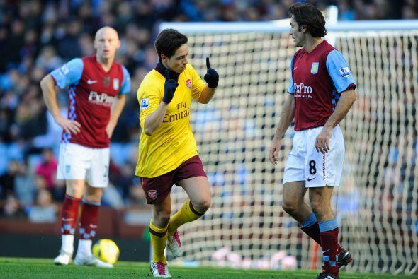 Samir Nasri fue clave en el Arsenal y anotó uno de los goles del...