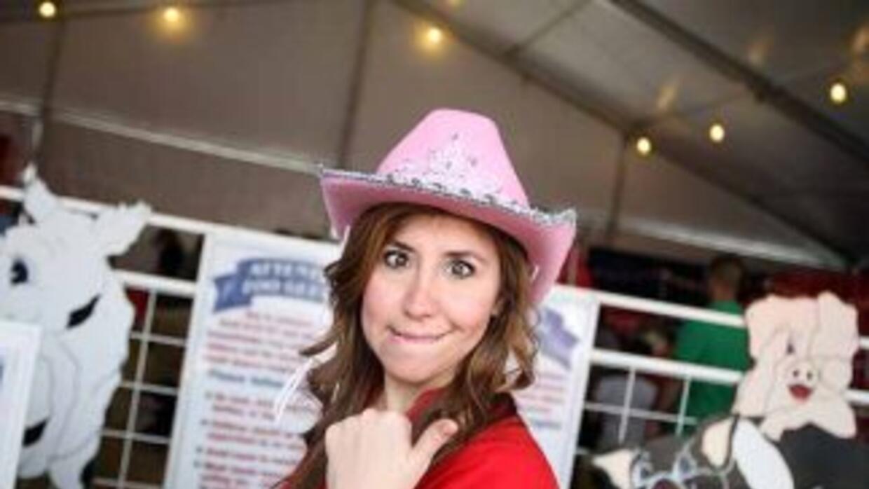 Leslie Montoya desde el Rodeo de San Antonio.
