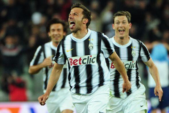 Alessandro Del Piero hizo el 2-1 con el que la 'Juve' lograba tres punto...