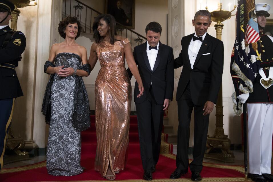 Michelle Obama en Versace