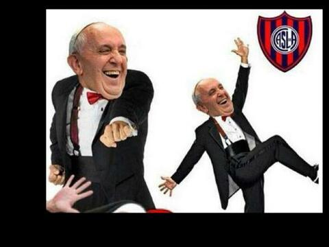 El equipo azulgrana y el Papa Francisco (gran fanático del San Lo...