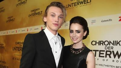 Lily Collins and Jamie Campbell