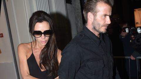 David y Victoria Beckham al parecer pasaron una noche de copas.