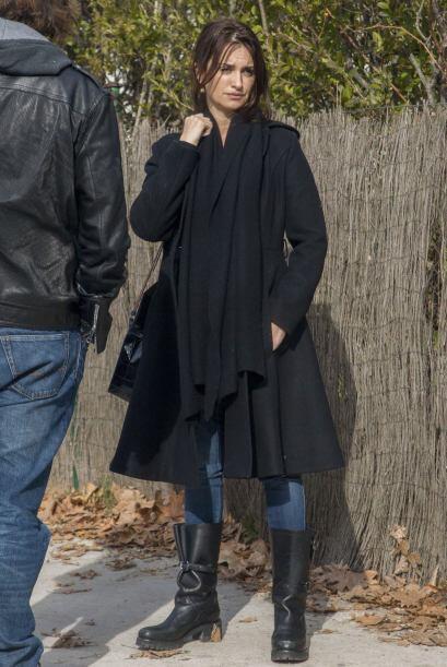 Lo que saltó a nuestra vista fue la barriga que muestra la actriz.