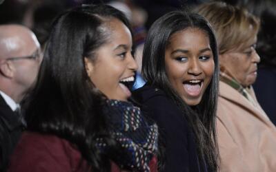 Sasha y Malia