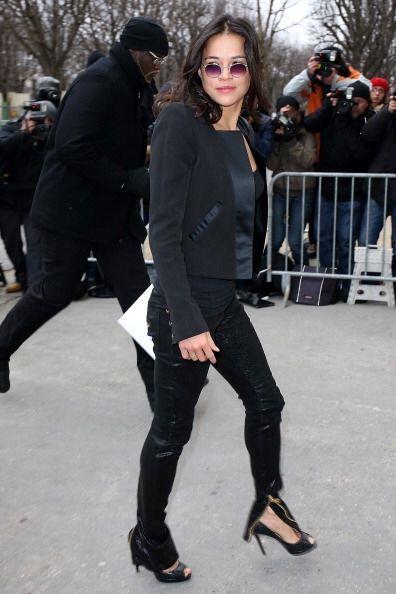 Michelle Rodriguez arrasó con cámaras y miradas en su lleg...