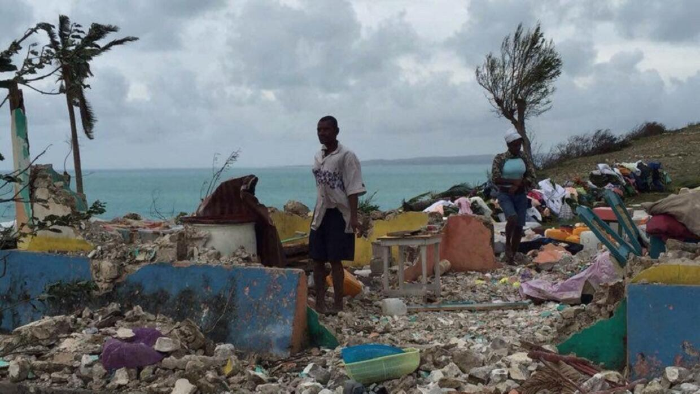 Aspecto en el que se encontraba Ile-a-Vache, Haití, el miércoles tras el...