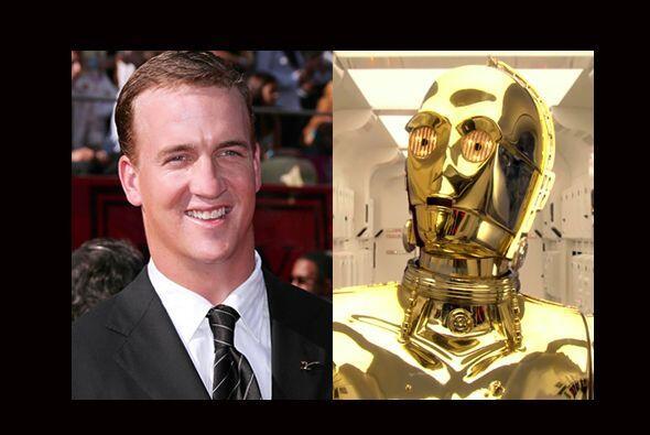 Con papel dorado en todo el cuerpo, Peyton Manning sería id&eacut...