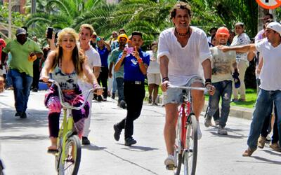 Shakira y Carlos Vives graban su primer video musical en Barranquilla