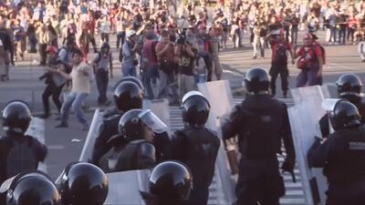 Violenta protesta en México