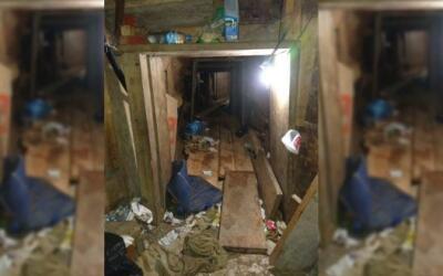Las autoridades mexicanas descubrieron un túnel que presuntamente...